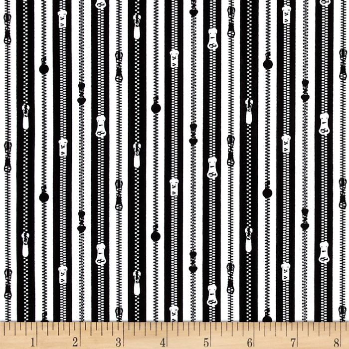 A Stitch In Time Zippers Black