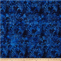 Island Batik Rip Tide Royal Leaves