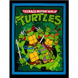 "Nickelodeon Teenage Mutant Ninja Turtles Retro TMNT Retro Panel-36"" Black"
