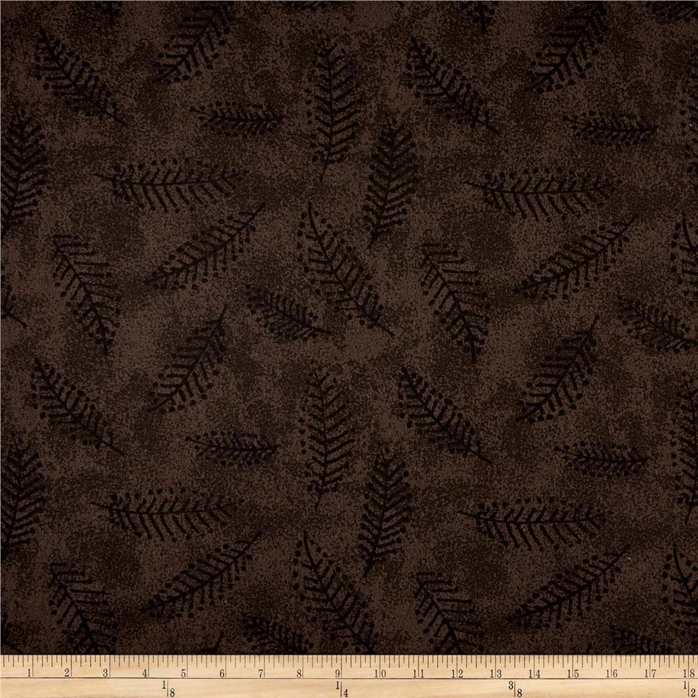 "110"" Wide Flannel Quilt Back Fern Smoke"