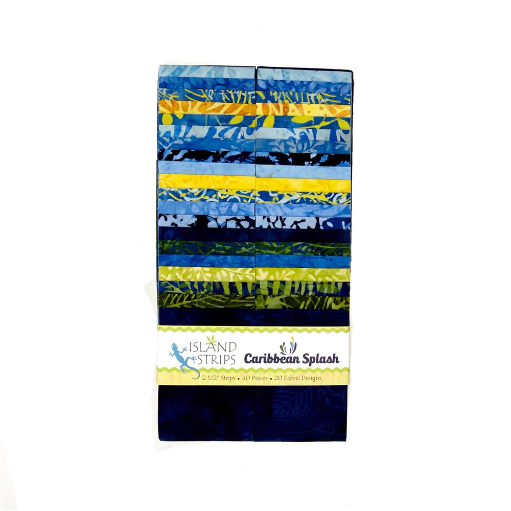 "Caribbean Splash 2.5"" Batik Strip Pack"