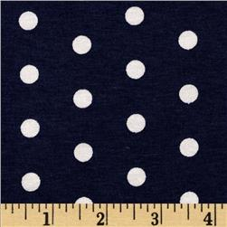 Dakota Jersey Knit Dots Navy/ Powder White