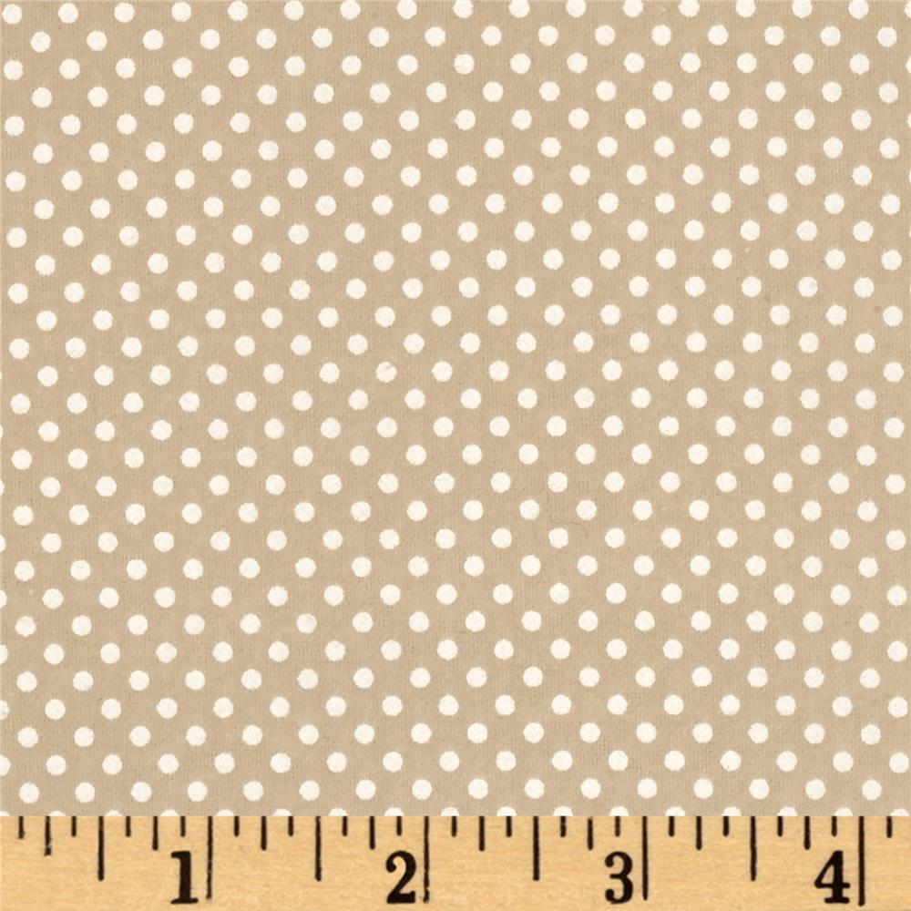 Moda Sweet Baby Flannel Tiny Dot Pebble