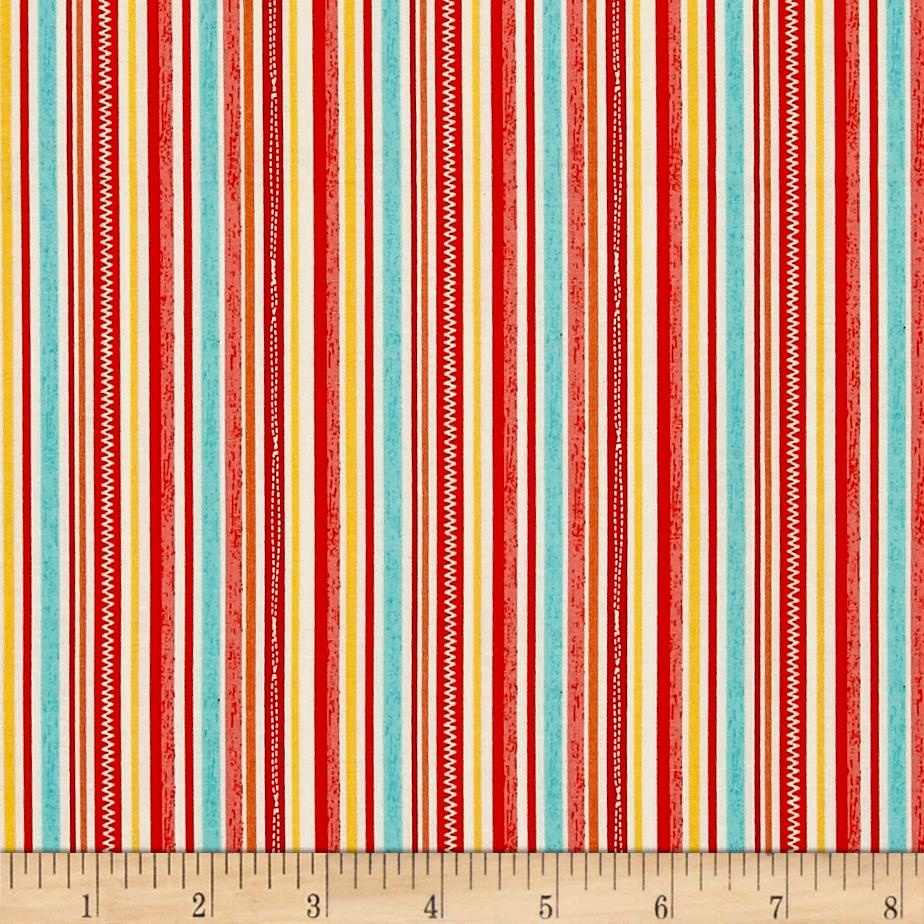 Riley Blake Road Trip Stripe Red
