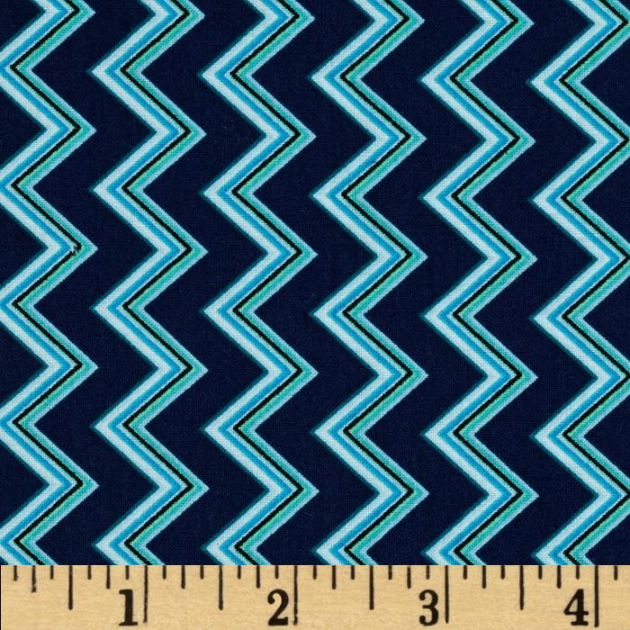 Chevron Chic Spaced Chevron Navy