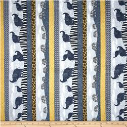 Amboseli Safari Stripe Grey