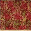 Timeless Treasures Tonga Batik Autumn Textured Leaves