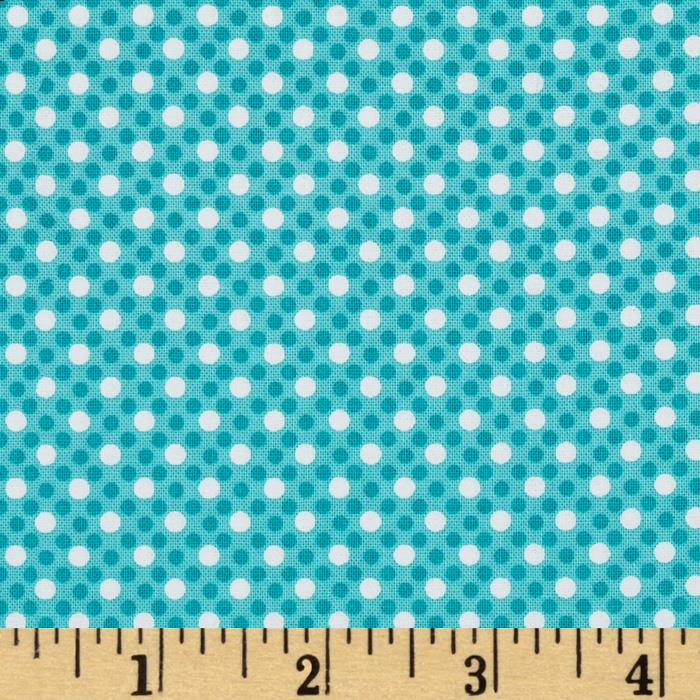 Michael Miller Dim Dots Turquoise