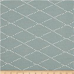 Ikebana Diamond Dots Abstract Charcoal Fabric