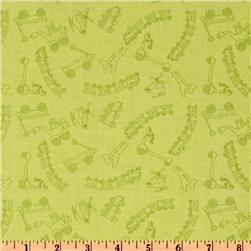 Riley Blake Scoot Tiny Toys Tonal Green