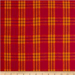 Madras Large Plaid Orange/Magenta