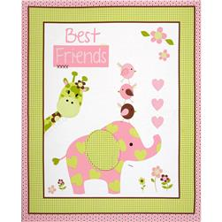 Nursery Best Friends 36'' Panel Green