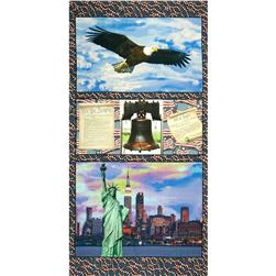 American Spirit Digital Print Freedom Multi Fabric