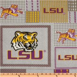 Collegiate Fleece Louisiana State University Plaid Blocks