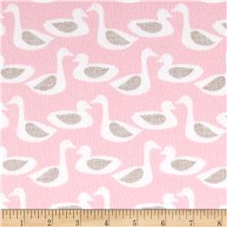 Cloud 9 Organic Flannel Duck Pink