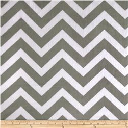 Minky Cuddle Chevron Charcoal/Snow