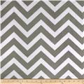 Shannon Minky Cuddle Chevron Charcoal/Snow
