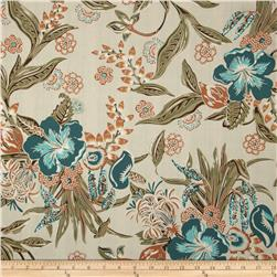 Canopy Cove Hibiscus Olive Fabric