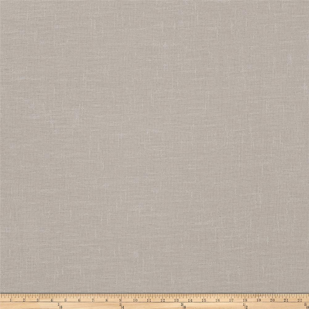 "Fabricut Bunkley 118"" Faux Linen Sheer Grey"