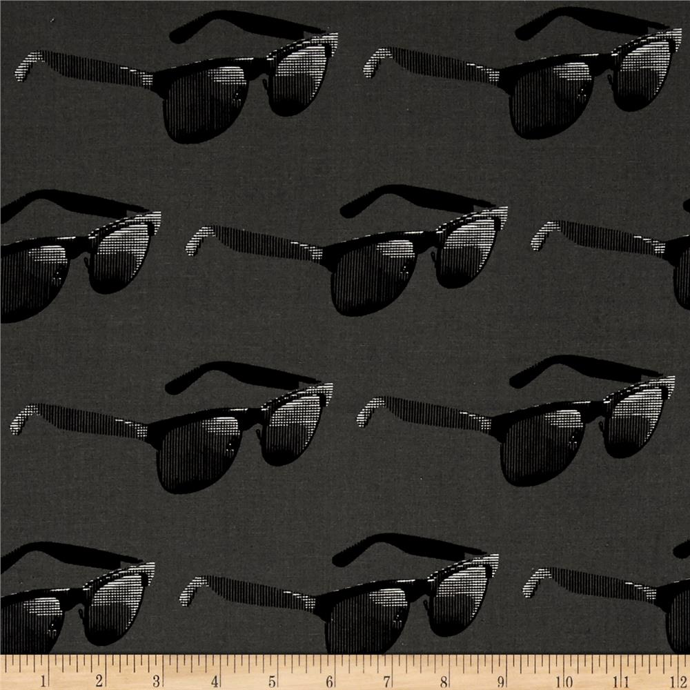 Moda Dapper Prints Mercury Rising Asphalt