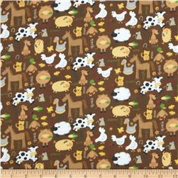 Alpine Flannel Barnyard Brown