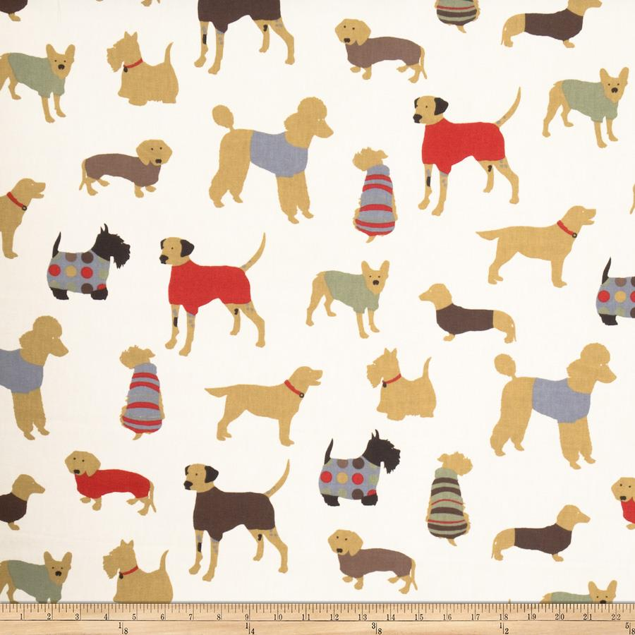 Fabricut Doggy Days Red