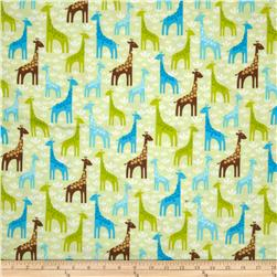 Robert Kaufman Wild Bunch Flannel Giraffes Park
