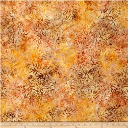 Wilmington Batiks Floral Dots Light Orange