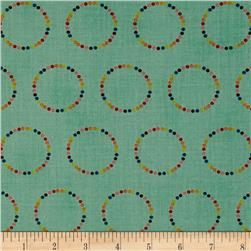 Moda Flying Colors Rainbow Circles Aqua