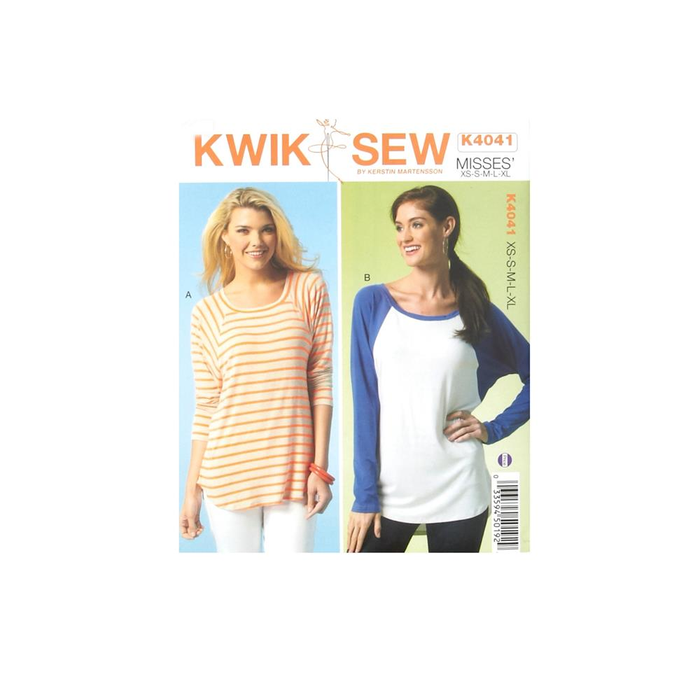 Kwik Sew Misses Long Sleeve Top Pattern
