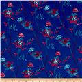 Thakoon Sweet Floral Crepe de Chine Blue/Berry