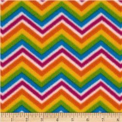 Girl Talk Fleece Chevrons Rainbow