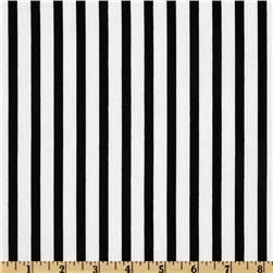 Pimatex Basics Stripe Black/White Fabric