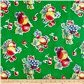 Oil Cloth Pears & Apples Green