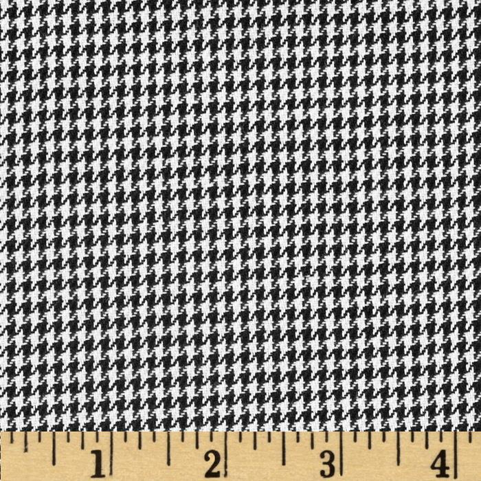 Kaufman Yarn Dyed Houndstooth Shirting Black