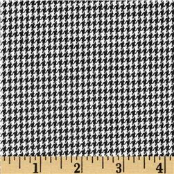 Kaufman Yarn Dyed Houndstooth Shirting Black Fabric