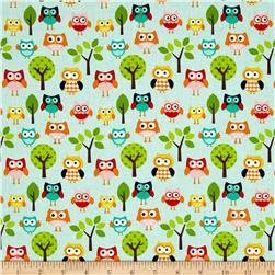 Riley Blake Lazy Day Lazy Owls Blue