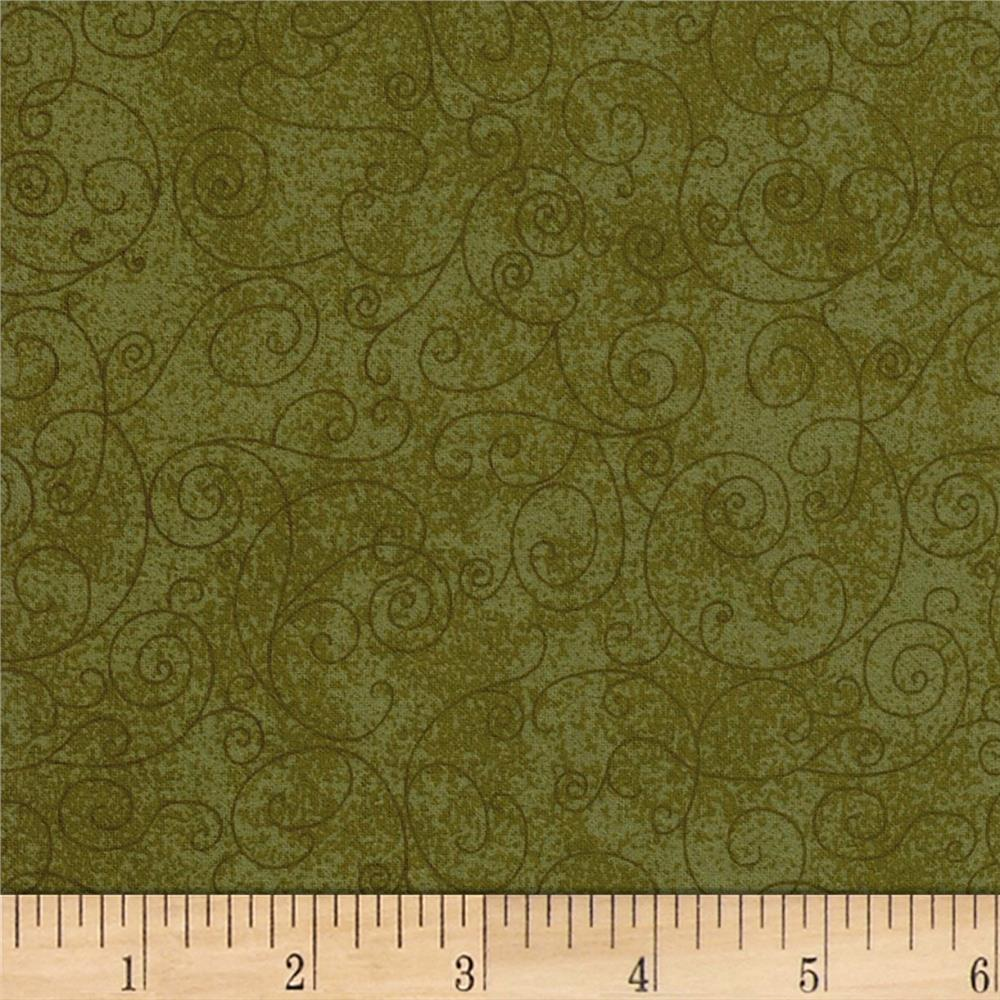 "110"" Wide Quilt Back Betula Flannel Leaf Green"