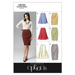 Vogue Misses' Skirt Pattern V8750 Size AA0