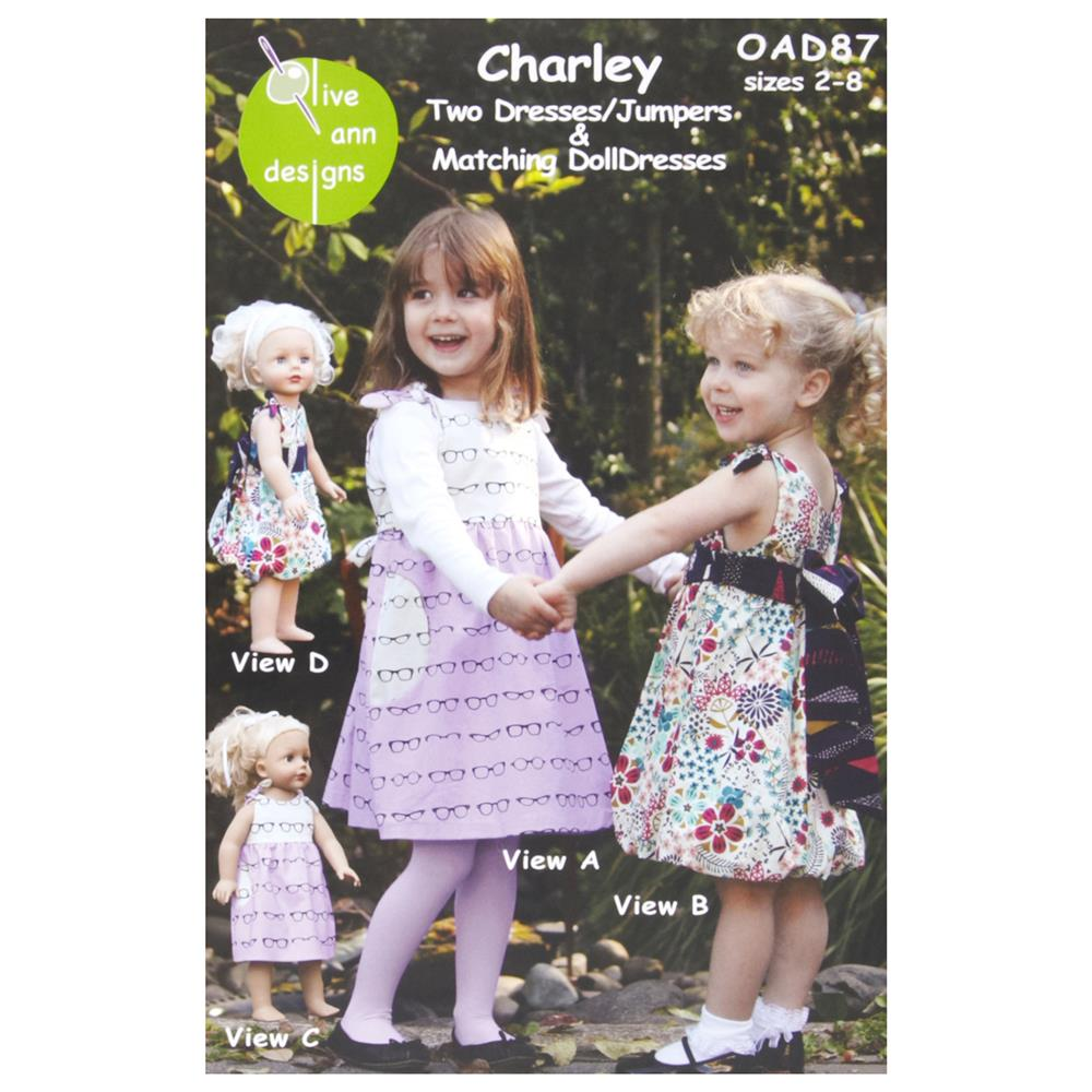 Olive Ann Designs Charley Two Dresses/Jumpers and Doll