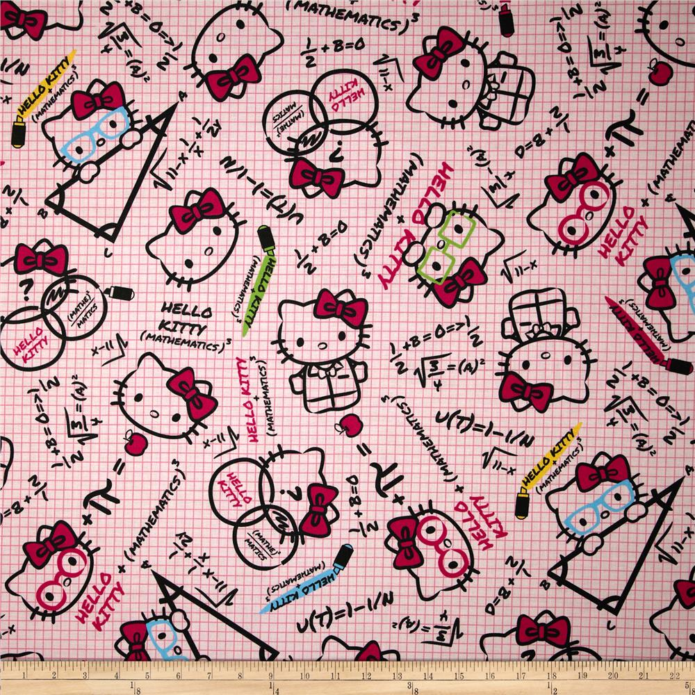 Hello Kitty Math Graph Paper Pink