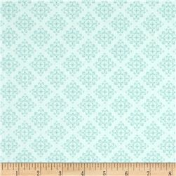 Laugh Love Quilt Tonal Blue