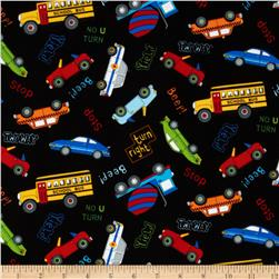 City Construction Traffic Black Fabric