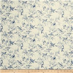 French General Aviary Toile Linen Indigo