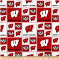 Collegiate Cotton Broadcloth University of Wisconsin Bucky Badger