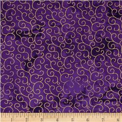 Island Batik Swirl Purple/Gold