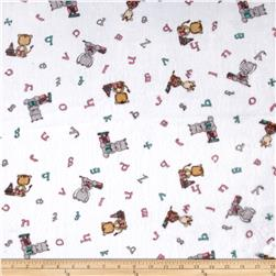 Shannon Minky Cuddle Prints Big Reader Paris Pink/Breeze