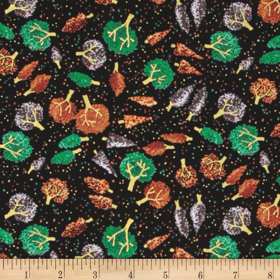 Quilting Treasures Autumn Spendor Metallic Mini Tree Toss Black