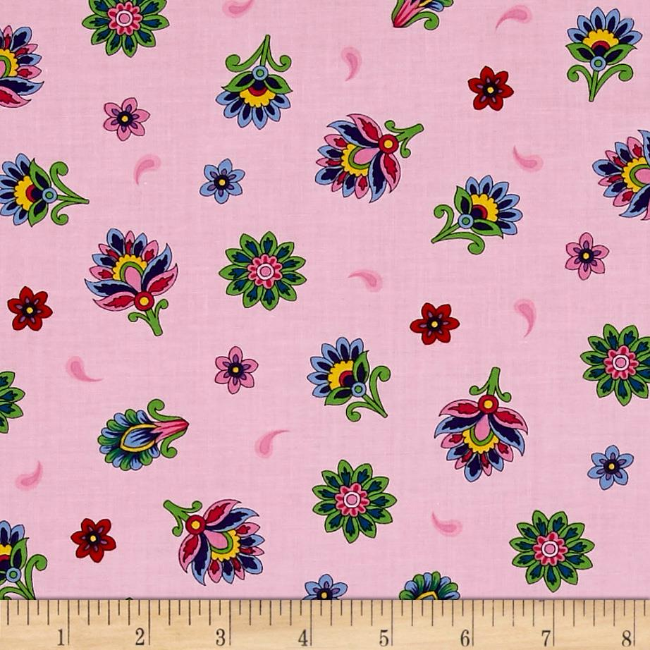 Imperial Paisley Tossed Flower Light Pink