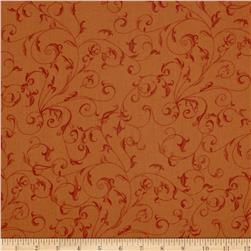 "110"" Wide Quilt Back Filigree Rust"